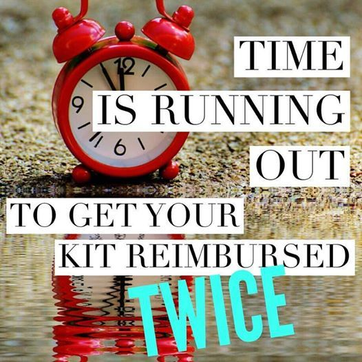 Friends, time it running out to be able to get your consultant kit reimbursed DOUBLE (on top of your commissions and bonuses!)  You do not want to miss out on this!!!!