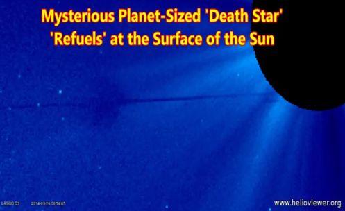 Disso Voce Sabia - Extraterrestres: Enorme Planeta Misterioso 'Death Star' Reabastecendo da Superfície do Sol ?