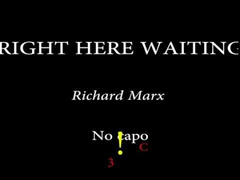Right Here Waiting Richard Marx Easy Chords And Lyrics Youtube Hering