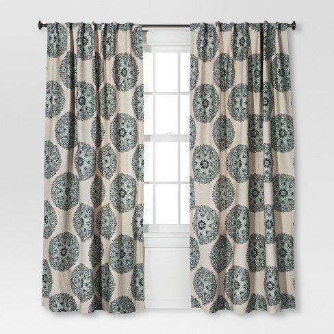 Naturals Medallion Curtain Panel Blue 54 X84 Threshold Target Panel Curtains Drapes Curtains Curtains