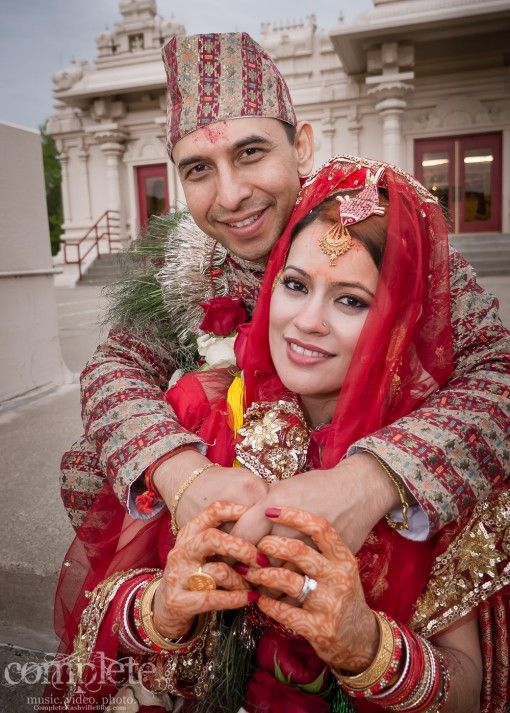 Nepali bride and groom Wedding NEPALI Pinterest