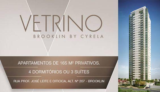 Vetrino Brooklin - Apartamentos de 165m², Duplex 313m² - 4 dorm ou (3 Suítes) na Rua Prof. José Leite e Oiticica, 237 - Zona Sul de São Paulo - SP--Preço a partir de: R$ R$1.972.446,00