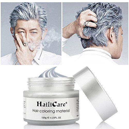 Hailicare Silver Grey Hair Wax 4 23 Oz Professional Hair Pomades Natural Silver Ash Matte Hairstyle Wax Fo Silver Hair Dye Silver Ash Hair Temporary Hair Dye