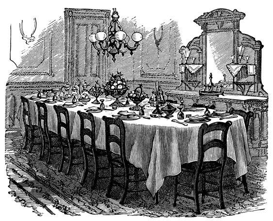 Vintage Kitchen Clip Art Black And White Graphics
