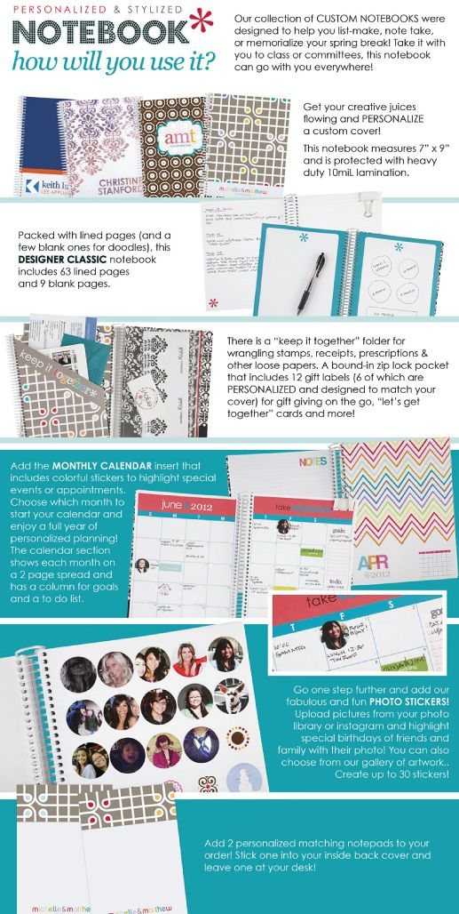 the mac daddy of all notebooks, by ErinCondren: Erincondren Click, Printables Organizacion, Gift Cards, 100 Gift, Craft Ideas, Crafty Wifey, She S Crafty
