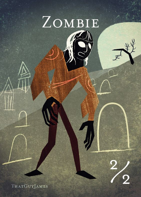 MTG Token: Zombie by jamesarnold.deviantart.com on @DeviantArt