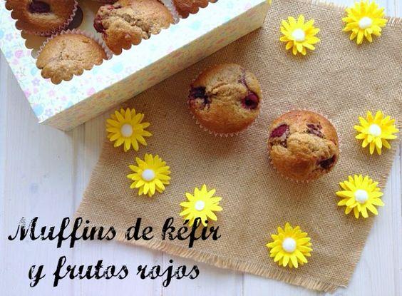 Muffins de kéfir y frutos rojos ~ No sin mi taper
