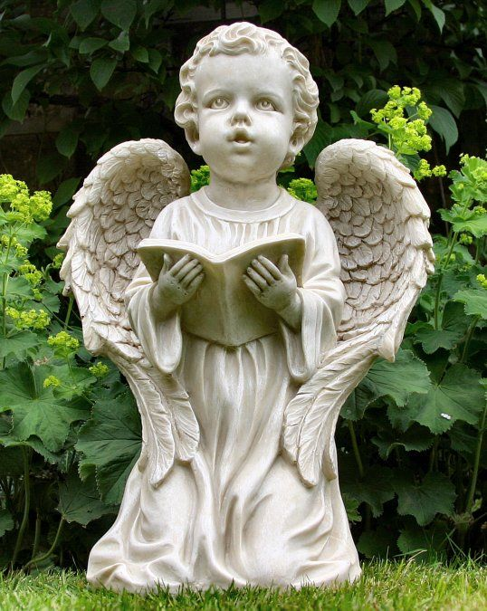 Kneeling Boy Angel Statue - Garden Ornaments Direct