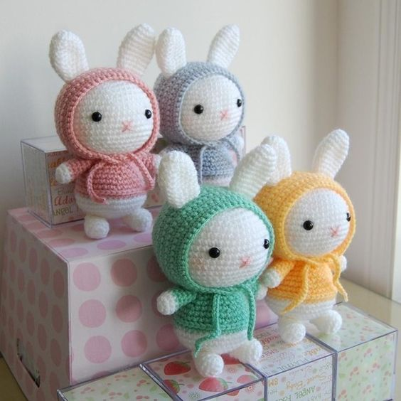 Hoodie Bunnies! Very cute, easy to make and make awesome gifts :)