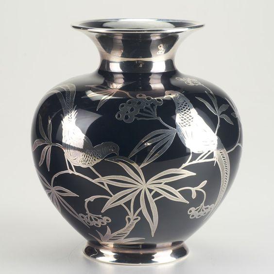 ROSENTHAL  Silver overlay vase, Bavaria, 20th c.