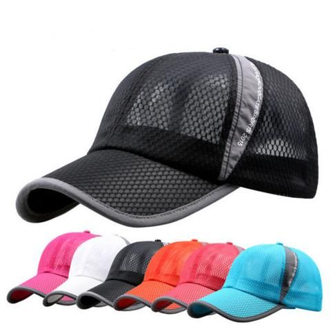 Mesh Baseball Cap Summer Visor Breathable Cool Trucker Sun Hat Unisex Adjustable