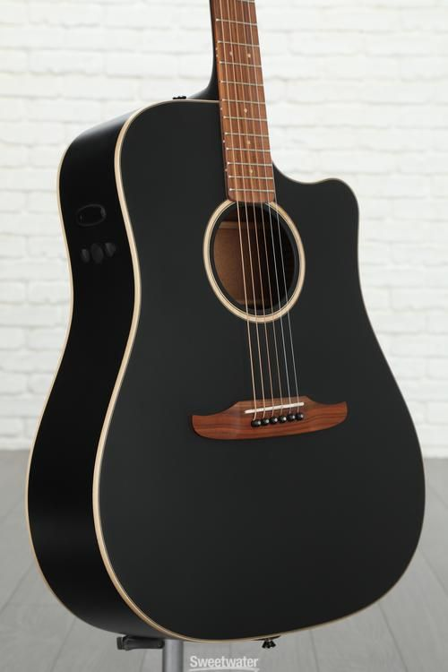 Fender Redondo Special Acoustic Electric Guitar With Cutaway Matte Black Black Acoustic Guitar Fender Acoustic Guitar Acoustic Guitar Photography