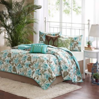 Madison Park Barbados 6-pc. Coverlet Set; Kohl's, $125.99. I really like this one. Comes with coverlet, 2 shams, 3 decorative pillows. Only have to get the bedskirt.