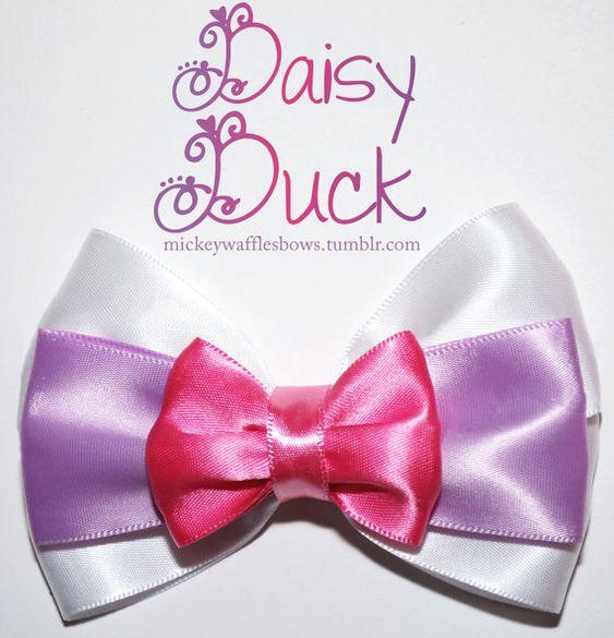 Arco del pelo de pato Daisy por MickeyWaffles en Etsy