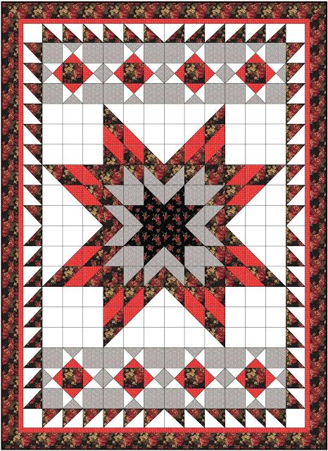 Busy Bee Quilt Designs Hip To Be Square : Busy Bee No. 16: Lone Star Quilt ... with Half Square Triangles Half Square Triangle Quilts ...