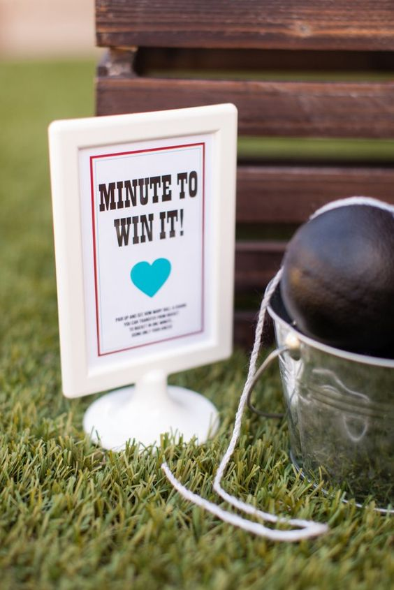 Minute to Win It! Couples Shower Games + Free Printables :: The TomKat Studio for DIY Network