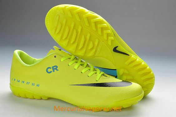 Nike Mercurial CR7 Vapor IX TF Soccer Cleats Fluorescent Green Black