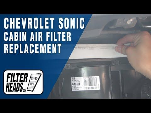 Youtube Cabin Air Filter Chevrolet Sonic Buick Cascada