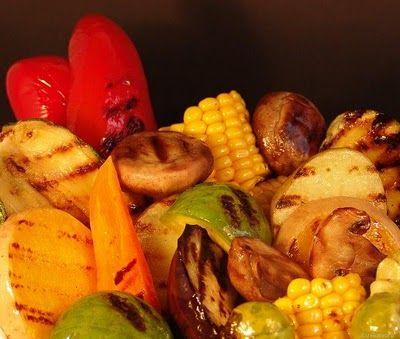 Vegetales grillados.