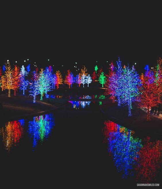 Vitruvian Lights in Addison #dallas #holiday #christmas #lights #park