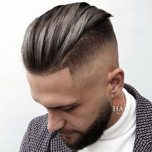 √ männer frisur lange haare nach hinten