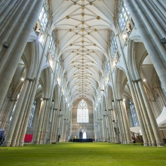 He makes me to lie down in green pastures. Psalm 23:2 (York Cathedral)