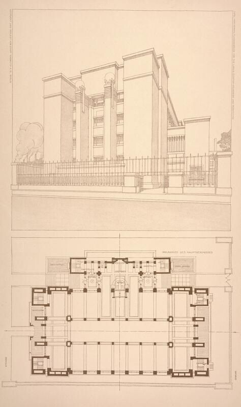 Administration building for the larkin co floor plan and Frank lloyd wright floor plan
