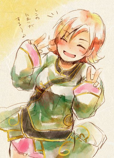 Nora in Ren's clothes, it fits! RWBY