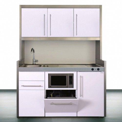 Schrankkuchen Burokuche 150 Cm Mit Mikrowelle Geschirrspuler Kuhlschrank A Schrank Kuche Minikuche Kuche