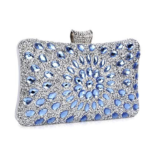 Unique Women Diamante dazzling Bling Evening Clutch Prom Party Wedding Purse