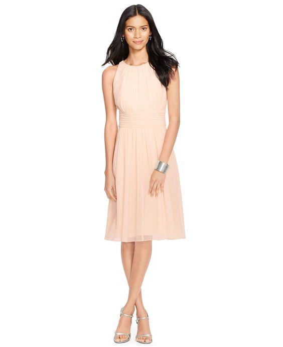 Lauren Ralph Lauren Ruched Sleeveless Dress - Dresses - Women ...