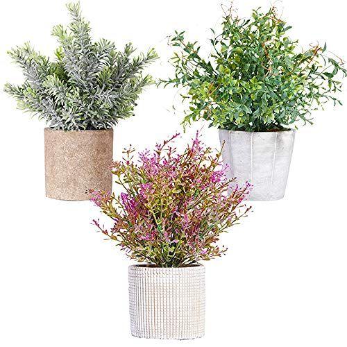 New Rui Cheng Plantes Artificielles Artificiel Plante Mini Faux Plantes Fleurs Vert Petite Fausse Pla En 2020 Fleur En Plastique Plantes Artificielles Plante Plastique