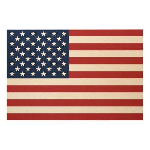 Patriotic Stars And Stripes American Flag Wood Wall Art Zazzle Com In 2020 American Flag Wood Wood Wall Art American Flag