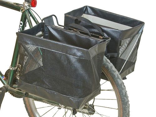 Bushwhacker Omaha Bike Grocery Basket Pannier Pair Bicycle Cycling