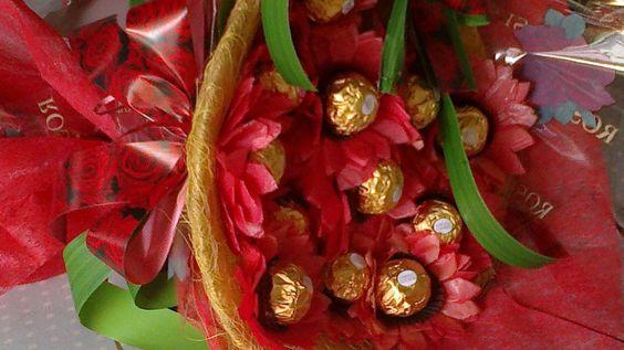 passo a passo buquê de flores com bombom - Pesquisa Google
