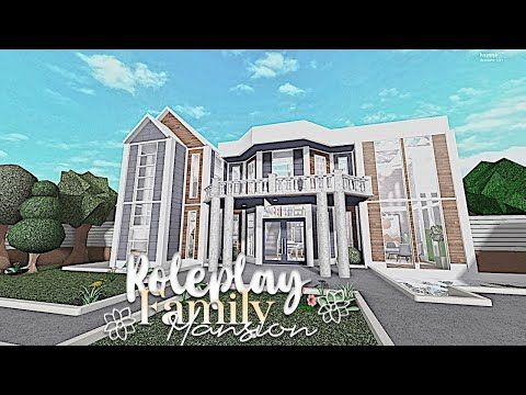 Bloxburg Roleplay Family Mansion House Build Youtube In 2020