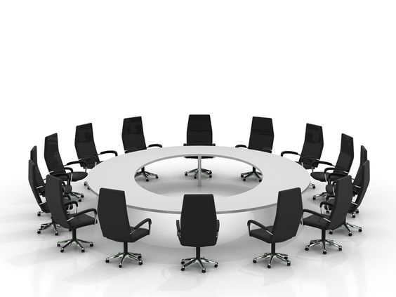 Rectangle shaped boardroom tables: