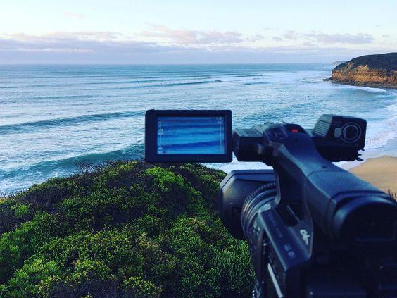 Shooting waves : Bells Beach with @olliepop_films  #summer #waves #bellsbeach #ocean #australia #surfcoast #surf #surfing by jezzalanko http://ift.tt/1KnoFsa