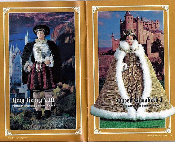Mode Puppe Royal Court Crochet Pattern für von grammysyarngarden