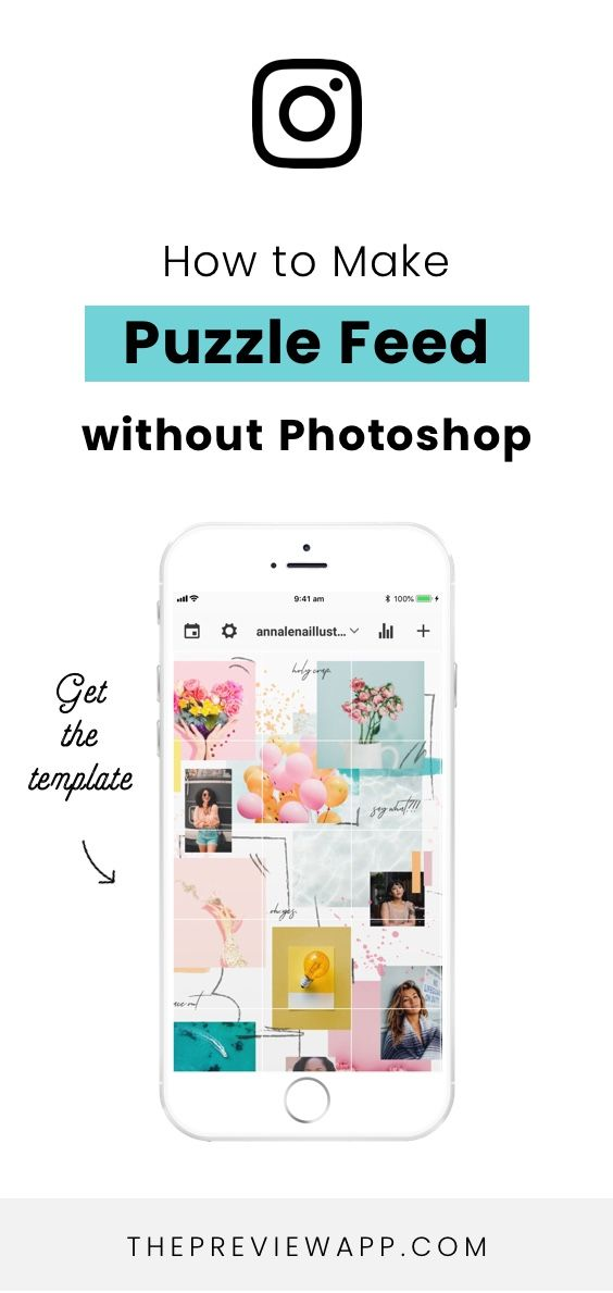 How To Design A Creative Instagram Puzzle Feed Using Canva