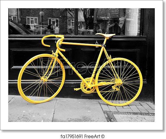 Free Art Print Of Yellow Bike Free Art Prints Canvas Pictures
