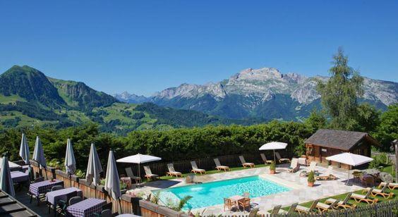 Une magnifique vue à l'hôtel la Croix-Fry Manigod Aravis