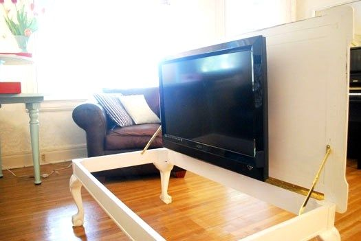 hide tv in coffee table home for the