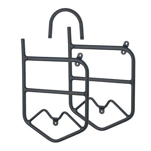 Porte bagage avant aluminium pour fourche avec oeillet de - Porte bagage avant fourche suspendue ...