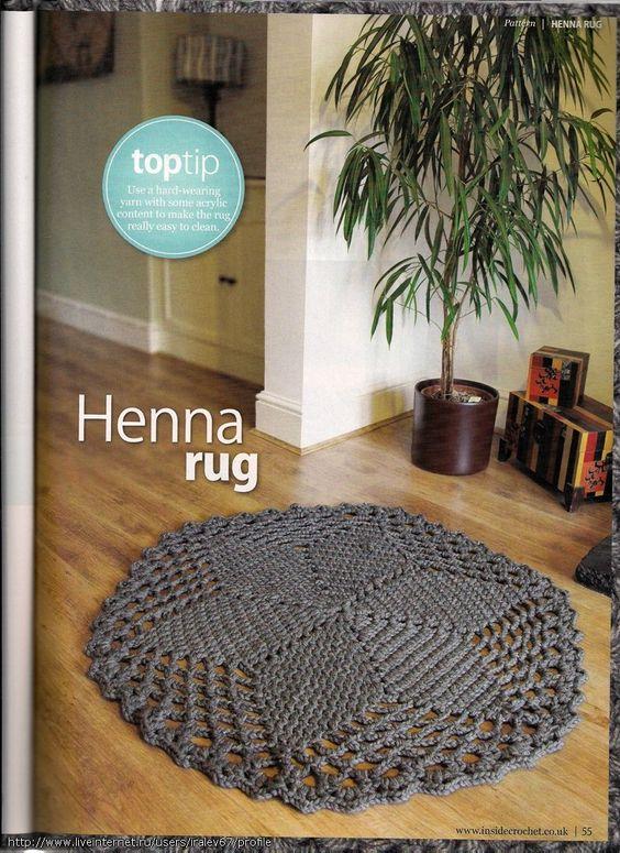 Alfombra crochet trapillo crochet carpet alfombras de ganchillo pinterest trapillo - Alfombra de trapillo cuadrada ...