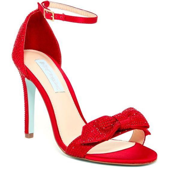 Betsey Johnson Gwen Dress Sandal ($60) ❤ liked on Polyvore ...