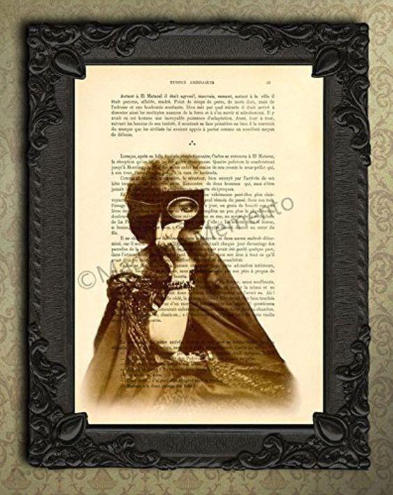 Victorian Countess Of Castiglione Art Print Antique