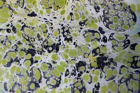 Marbled paper by BARBARA KELNHOFER, Staufen, Germany