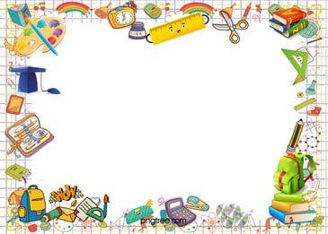 Cartoon Fresh Leaf Frame Summer Banner In 2021 Teacher Cartoon Cartoon Background Banner