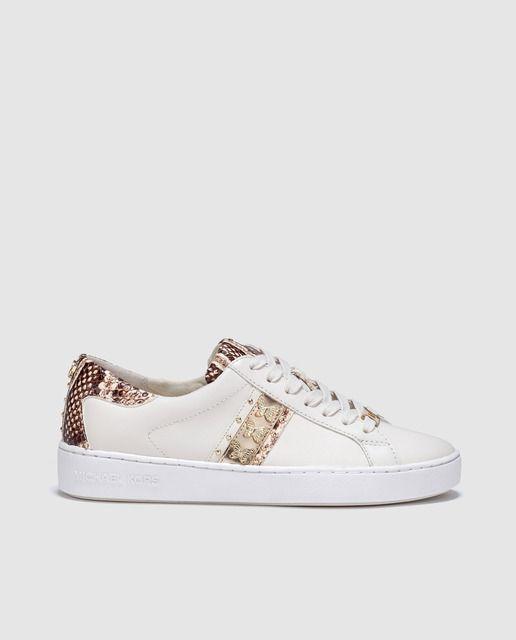 Zapatillas de piel de mujer Michael Kors de color blanco con